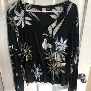 Roxy flower blouse long sleeve